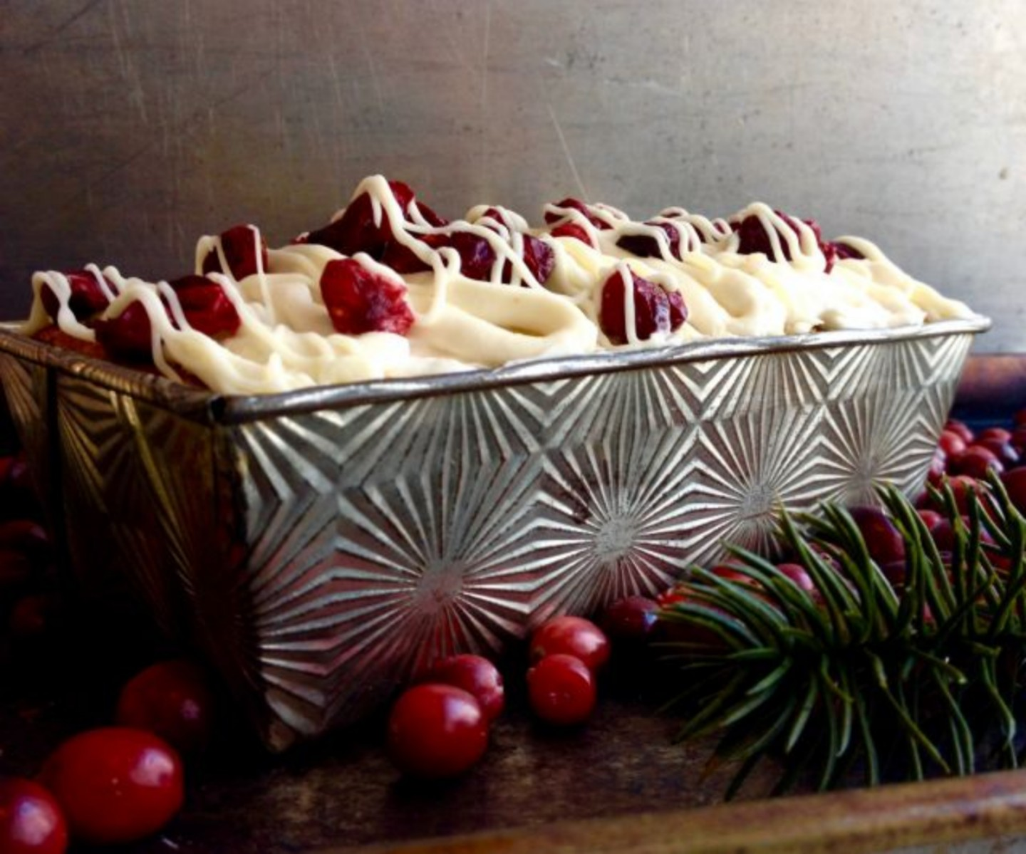 Cranberry & White Chocolate Teacake