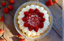 Strawberry Swirl Pie